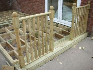 cuts around newel posts