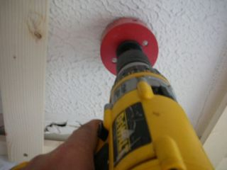 drill ceiling holes