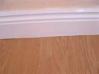 laminate under skirting board