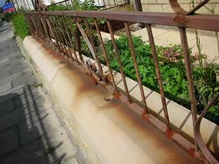 Rusty railings