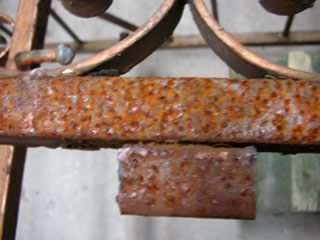 rust on railings